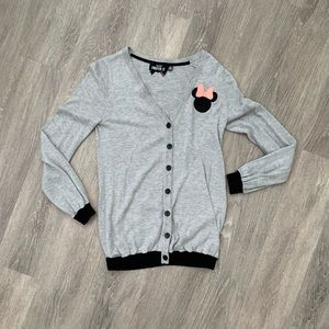 Minnie Mouse Letterman-style Cardigan